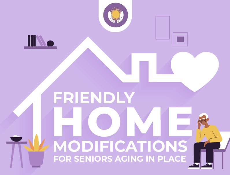 Friendly Home Modifications for Seniors Aging in Place Infographic featured image